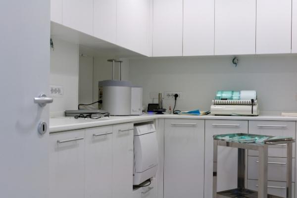 panoramica sala di sterilizzazione